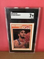 1989-90 Fleer Basketball Brad Daugherty #25 SGC 7 NM Graded Card Cleveland Cavs