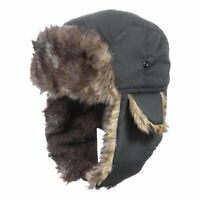 Men Winter Trapper Aviator Trooper Earflap Warm Russian Ski Hat Waterproof Cap