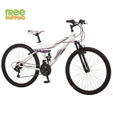 Mongoose Mountain Bike Women Aluminum Bicycle White Shimano 21 speeds New!