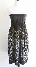 Christopher & Banks Women's Medium Black Floral Strapless Dress or Skirt Elastic