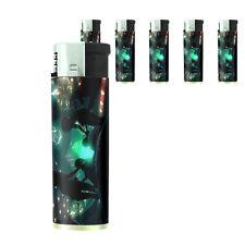Vintage Alien Abduction D12 Lighters Set of 5 Electronic Refillable Butane