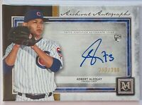 ADBERT ALZOLAY 2020 TOPPS MUSEUM AUTOGRAPH ROOKIE #d/299 RC CHICAGO CUBS AUTO