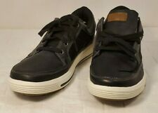 Faded Glory Mens Black Lace-up Lightweight Casual Sneaker Shoes 8.5 Memory Foam