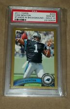 2011 TOPPS CAM NEWTON RC GOLD #/2011 PSA 10 POP 2! EXTREMELY CONDITION SENSITIVE