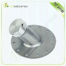 "45 DEGREE FUEL CELL GAS TANK 1.5"" REMOTE FAST FILL 2.75"" FILLER NECK+CAP SILVER"