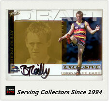 2002 Select AFL SPX Card Draft Pick Gold Signature DS12 Brent Reilly (Adelaide)