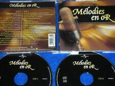 MELODIES en OR 2 CD 36T jenifer,barney,pagny,lavoine,fabian,hallyday,wonder,noa