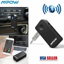 Mpow 3.5mm Wireless Bluetooth Stereo Car Phone AUX Audio Music Receiver Adapter