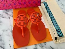 Tory Burch Miller Square Toe in Sweet Tangerine Orange Color Size US 7 New Box