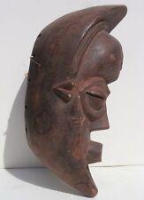 African Face Mask Crescent Moon Profile attrib. to Punu Gabon Female Ancestor