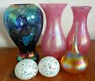 Heron Glass Glassware - Vases / Paperweights MULTI-LISTING iridescent colours