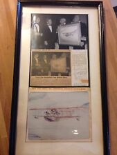 SIGNED Neil Armstrong Rhoads Connolly Crossfield Photograph & Newspaper 1969