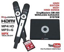 HINDI Karaoke MACHINE,SingMasters Hindi Magic Sing,4025 Hindi Songs,Wireless Mic