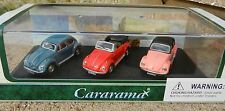1:72 CARARAMA *VOLKSWAGEN BUG* 3pc SET Blue Beetle Red Cabrio Pink Soft Top NIB!