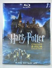 NEW!~HARRY POTTER~COMPLETE 8 MOVIE FILM COLLECTION~8 DISC BLU-RAY SET~PG/PG-13