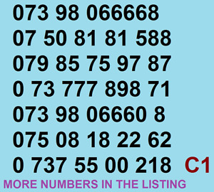 New EE GOLD VIP BUSINESS EASY MOBILE PHONE NUMBER SIM CARD Vodafone ee O2 UK