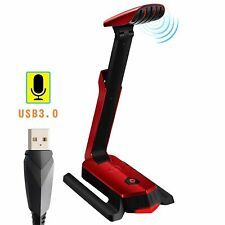 Beexcellent Desktop USB Computer Microphone Flexible for PC, Laptop, PS4, Gaming