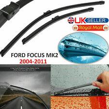 Wiper Blades Ford Focus Flat Windscreen Aero For Front Blade 2004-2011 MK2 Set