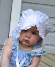 Toddler Solid White  Bonnet Sunhat fits 2T, 3T, 4T,5T NEW
