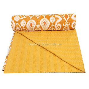 Indian Twin 90x60 Inch Bedding Bedspread Handmate Blanket Kantha Quilt Bed Cover