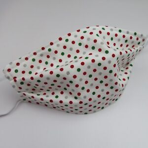 Handmade FACE MASK Christmas Prints Built-in filter washable reversible USA