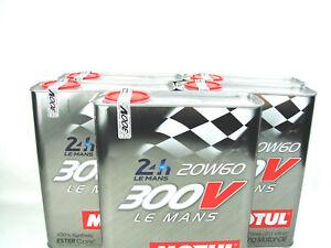 300V le Mans 20W60 Motul Première Noyau 20W-60 Racing 5x 2Liter 100% Synthétique