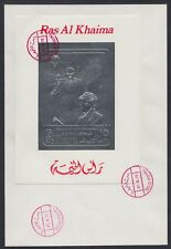 1972 Ras al Khaima FDC Visit of Pompidou Cape Kennedy Space silver foil [brd735]