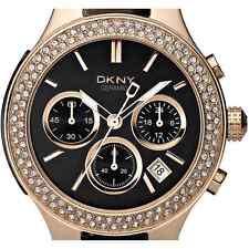 Dkny Cerámica Rosa Oro Cronógrafo Acero Inoxidable Reloj De Mujer NY4984