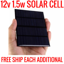 12V 1.5W SOLAR PANEL CELL POLYCRYSTALLINE SILICONE POWER CHARGER DIY MINI TESTED