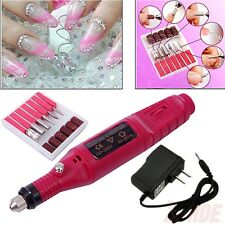 Pen Shape Electric Nail Drill Art Manicure File Polish Buffing Pedicure Tool Set