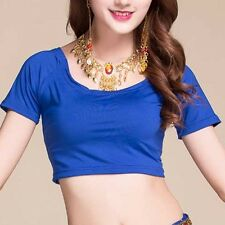 Belly Dance Yoga Top Soft Stretchy Cotton Midriff Dancing Wear Bra Top