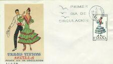 FDC Primo Giorno Spagna 1970 Abiti Tipici Siviglia