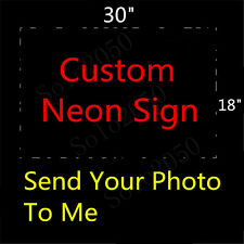 Custom NEON LIGHT SIGN Glass Tube Display BEER BAR CLUB Bulbs Lamp Signs