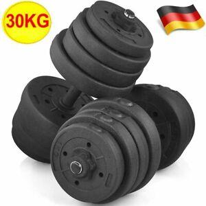 DE! Verstellbare Kurzhantel Sets, Hantel Set mit Gewichte und Hantelstange 30kg