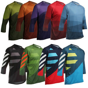 3/4 Sleeve MTB Bike Jersey Cycle Trail Shirt Tops Bicycle Cycling Mountain Loose