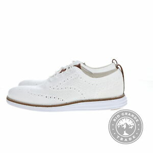 NEW Cole Haan C27963 Men's Grand Stitchlite Wingtip Oxford in Optic White - 9