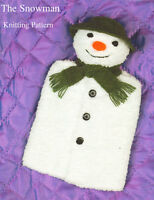 Snowman Toy Hot  Water Bottle Cover DK Childrens  Knitting Pattern