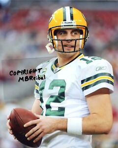 AARON RODGERS photo in action Green Bay Packers #2 (c) MBR
