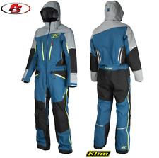 New 2019 KLIM LOCHSA ONE-PIECE Snowmobile Gore-Tex Blue Size LG Jacket Pants