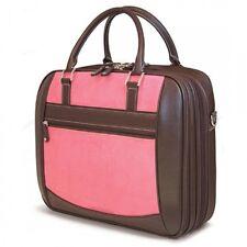 ScanFast Element Briefcase 16/17 Mac - Pink Suede Checkpoint Friendly Laptop Bag