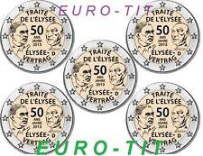 2 EURO   ALLEMAGNE   2013   TRAITE DE L'ELYSEE  LA  SERIE DES  5  PIECES  NEUVES