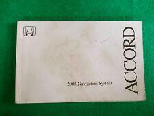 2003 03 Honda Accord navigation Owners Manual, Near New R34