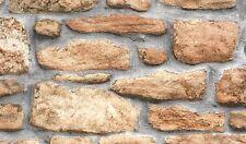 FABLON OLD BROWN BEIGE STONE BRICK WALL STICKY BACK PLASTIC SELF ADHESIVE VINYL
