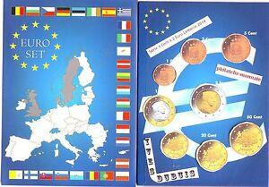 EURO LETTONIE 2014 SERIE COMPLETE 1 C A 2 € NEUVE....