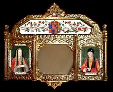 TUDOR STYLE PICTURE MIRROR FOR DOLLS HOUSE / ROOM BOX - by SYLVIA ROSE.