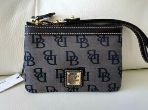 NWT~ Dooney & Bourke Signature DB Medium Wristlet Wallet in Black