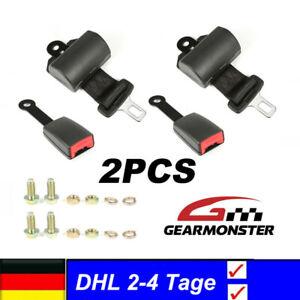 2pcs Universal Sicherheitsgurt 2 Punkt Automatik Beckengurt E4 mit Schrauben