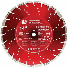 "Grip Rite GRCOMBOP14 14"" Diamond Saw Blade, Brick, Concrete, Granite, Asphalt"