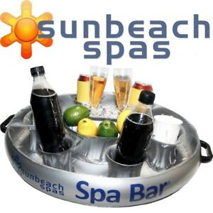 COMPACT SPA BAR - Inflatable Floating Hot Tub Spas Snack & Drink Tray - Round