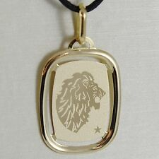 MADE IN ITALY 18K solide or jaune VIRGO ZODIAC SIGNE médaille pendentif zodiacales